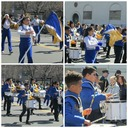 BAND AND CHEERLEADERS AT YONKERS MCLEAN AVE ST. PATRICK'S PARADE photo album